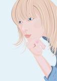 Mujer de pensamiento Stock de ilustración