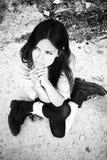 Mujer de petición joven Fotografía de archivo