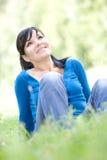 Mujer de relajación Imagen de archivo