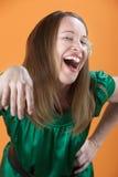 Mujer de risa Imagen de archivo libre de regalías
