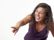 Mujer de risa Fotos de archivo libres de regalías