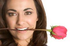Mujer de Rose Imagen de archivo