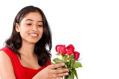 Mujer de Rose Fotos de archivo libres de regalías