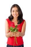 Mujer de Rose Foto de archivo