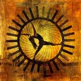Mujer de Sun stock de ilustración