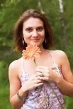 Mujer de Sunny Day Portait Fotografía de archivo