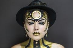 Mujer de Techno fotografía de archivo libre de regalías