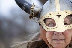 Mujer de Vikingo Foto de archivo libre de regalías