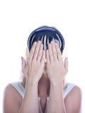 Mujer de Youn en una máscara Foto de archivo libre de regalías