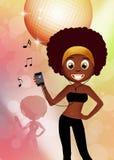 Mujer del Afro Imagen de archivo libre de regalías