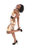 Mujer del afro de la manera Fotografía de archivo