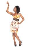Mujer del afro de la manera Imagenes de archivo