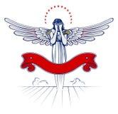 Mujer del ala del ángel Fotografía de archivo libre de regalías