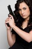 Mujer del arma fotos de archivo