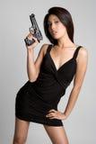 Mujer del arma Imagen de archivo