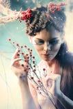 Mujer del arte Imágenes de archivo libres de regalías