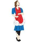Mujer del arte pop Imagen de archivo libre de regalías