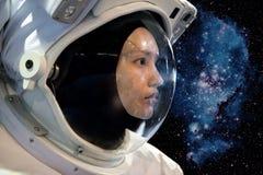 Mujer del astronauta fotografía de archivo libre de regalías