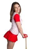 Mujer del béisbol fotografía de archivo libre de regalías