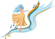 Mujer del baile ilustración del vector