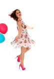 Mujer del baile con el balloon& x27; s Fotos de archivo
