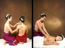 Mujer del balneario del masaje fotos de archivo libres de regalías