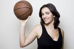 Mujer del baloncesto Fotografía de archivo