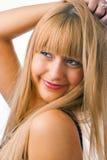 Mujer del blonde de la belleza del retrato Fotografía de archivo libre de regalías