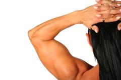 Mujer del Bodybuilder de la parte posterior Imagenes de archivo