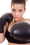 Mujer del boxeador foto de archivo libre de regalías