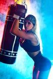 Mujer del boxeador Imagen de archivo libre de regalías