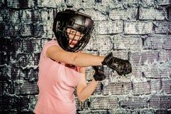 Mujer del boxeo Imagen de archivo