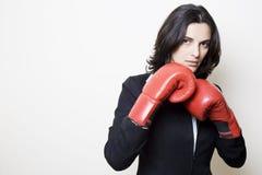 Mujer del boxeo Imagen de archivo libre de regalías