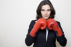 Mujer del boxeo Fotografía de archivo libre de regalías