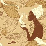 Mujer del cacao Fotografía de archivo libre de regalías