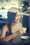 Mujer del café Fotografía de archivo libre de regalías