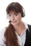 Mujer del centro de atención telefónica Imagen de archivo