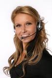 Mujer del centro de atención telefónica Fotos de archivo