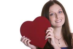Mujer del corazón Foto de archivo