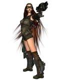 Mujer del Cyberpunk - 1 Fotografía de archivo libre de regalías