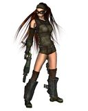 Mujer del Cyberpunk - 2 Imagenes de archivo