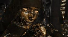 Mujer del Cyborg Foto de archivo