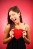 Mujer del día de tarjetas del día de San Valentín fotos de archivo libres de regalías