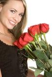 Mujer del día de tarjetas del día de San Valentín Foto de archivo