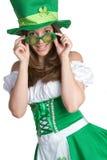 Mujer del día del St Patricks Imágenes de archivo libres de regalías