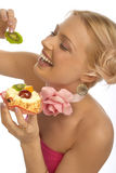 Mujer del diente dulce Foto de archivo libre de regalías
