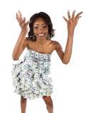 Mujer del dinero Fotos de archivo libres de regalías