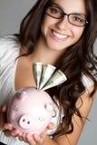 Mujer del dinero del asunto fotos de archivo libres de regalías