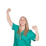 Mujer del doctor del ganador Foto de archivo libre de regalías