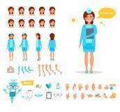 Mujer del doctor para la animación libre illustration